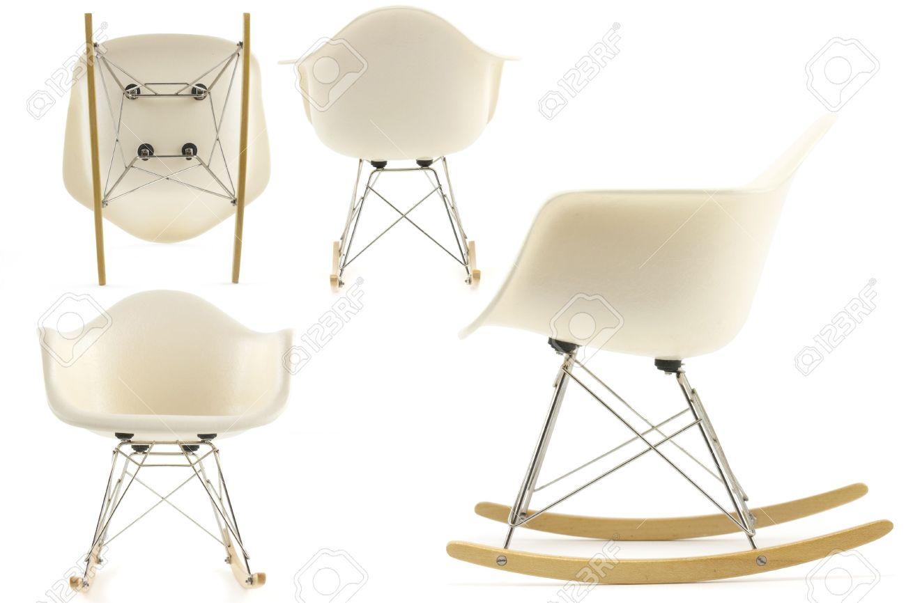 Modernes Design Klassischen Eames Schaukelstuhl Festgelegt Auf