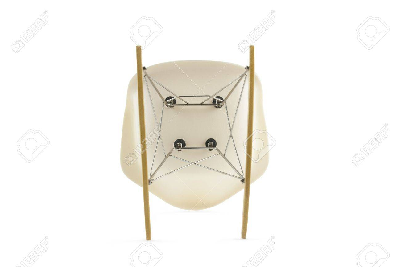 Eames Rocking Chair : Modern design classic eames rocking chair on white background