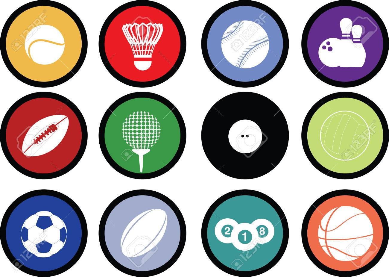 Detailed illustration of a series of world wide sports Stock Vector - 5773456