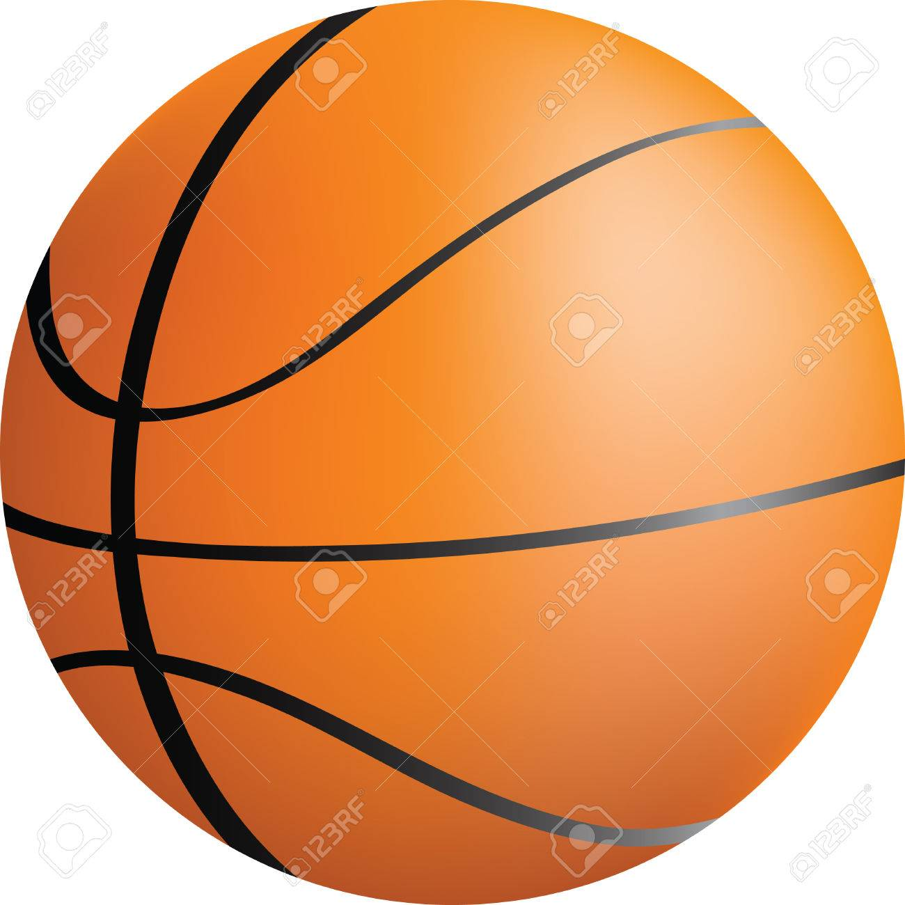 simple icon style illustration of a basket ball Stock Vector - 5789728