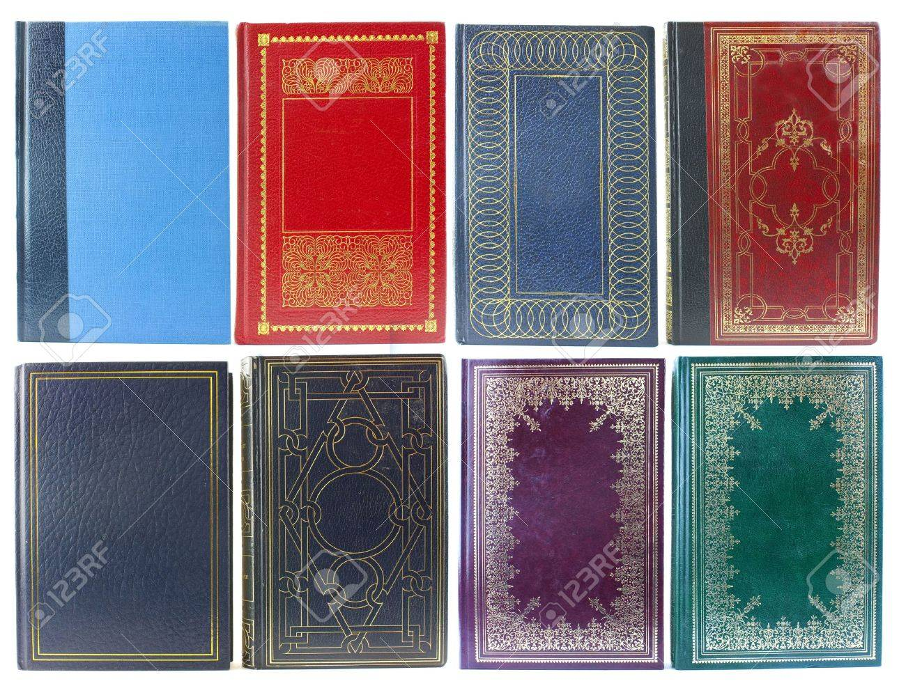 Big set of old book covers front view Stock Photo - 5900222