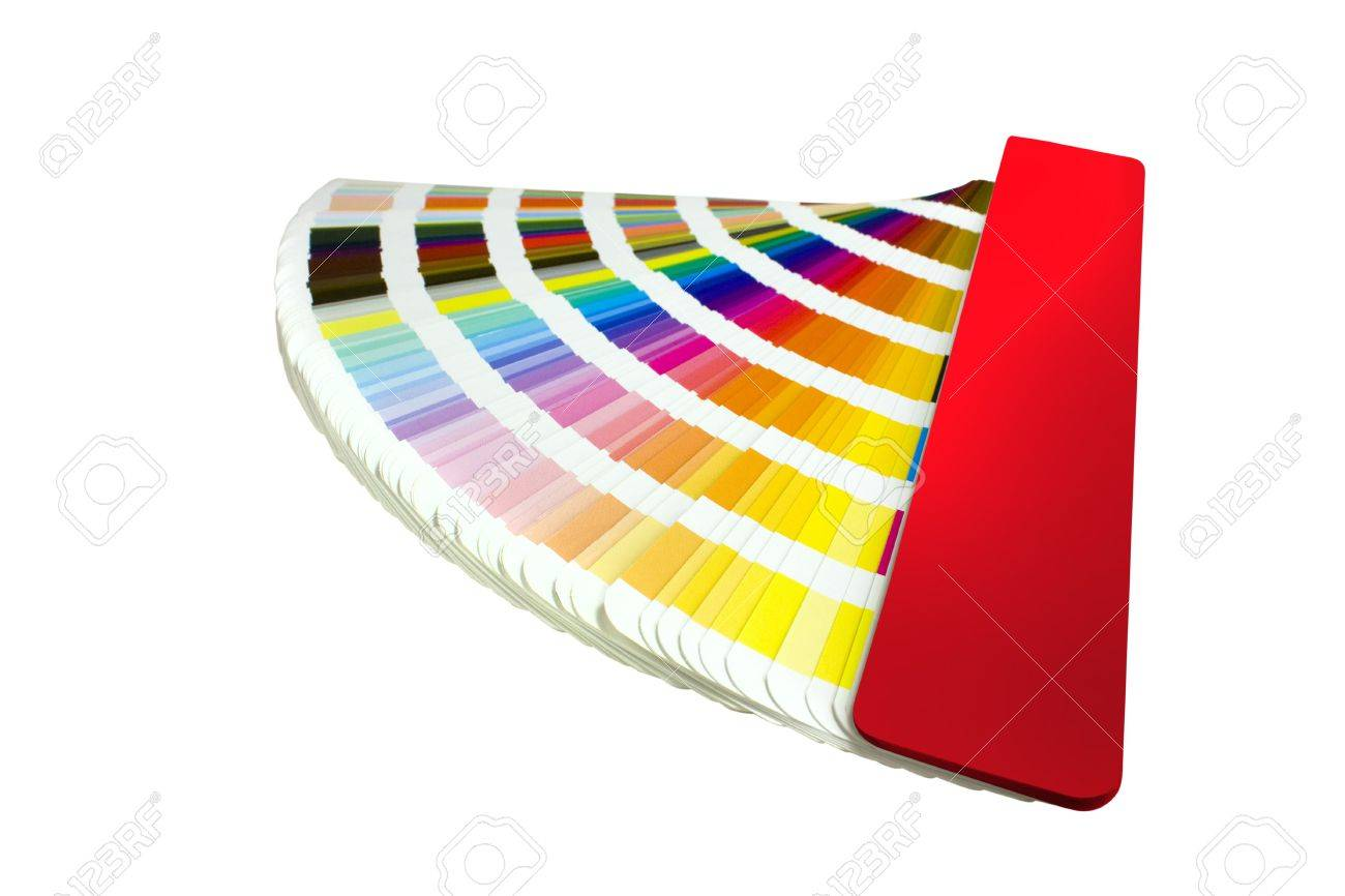 coloured swatches book open showing an array of rainbow colours Stock Photo - 6258191