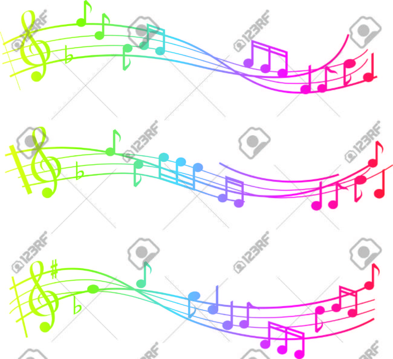 musical swirl of notes with gradient colours Stock Vector - 6521836