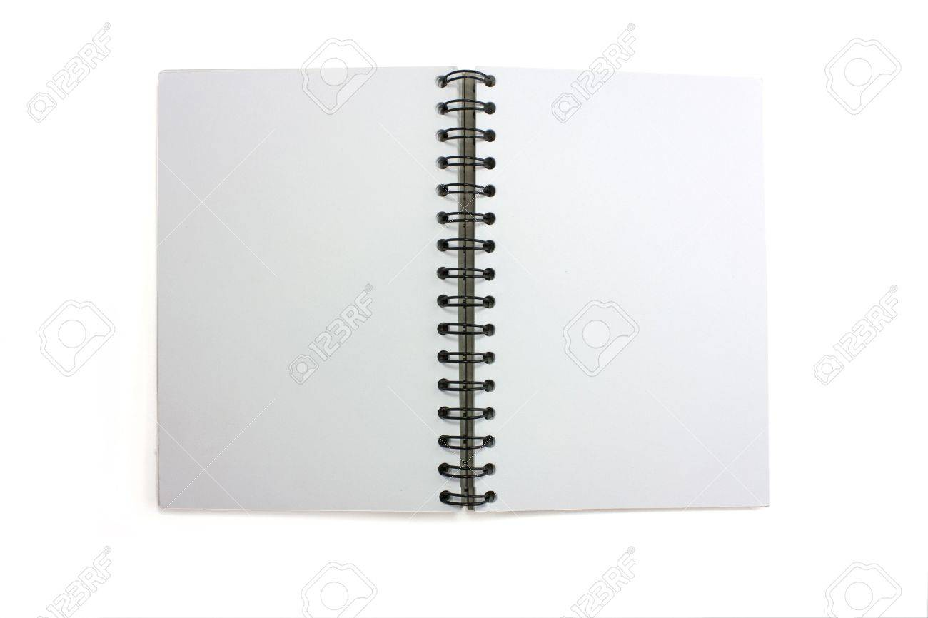 an open isolated skretchbook with wirobound spine Stock Photo - 6601214