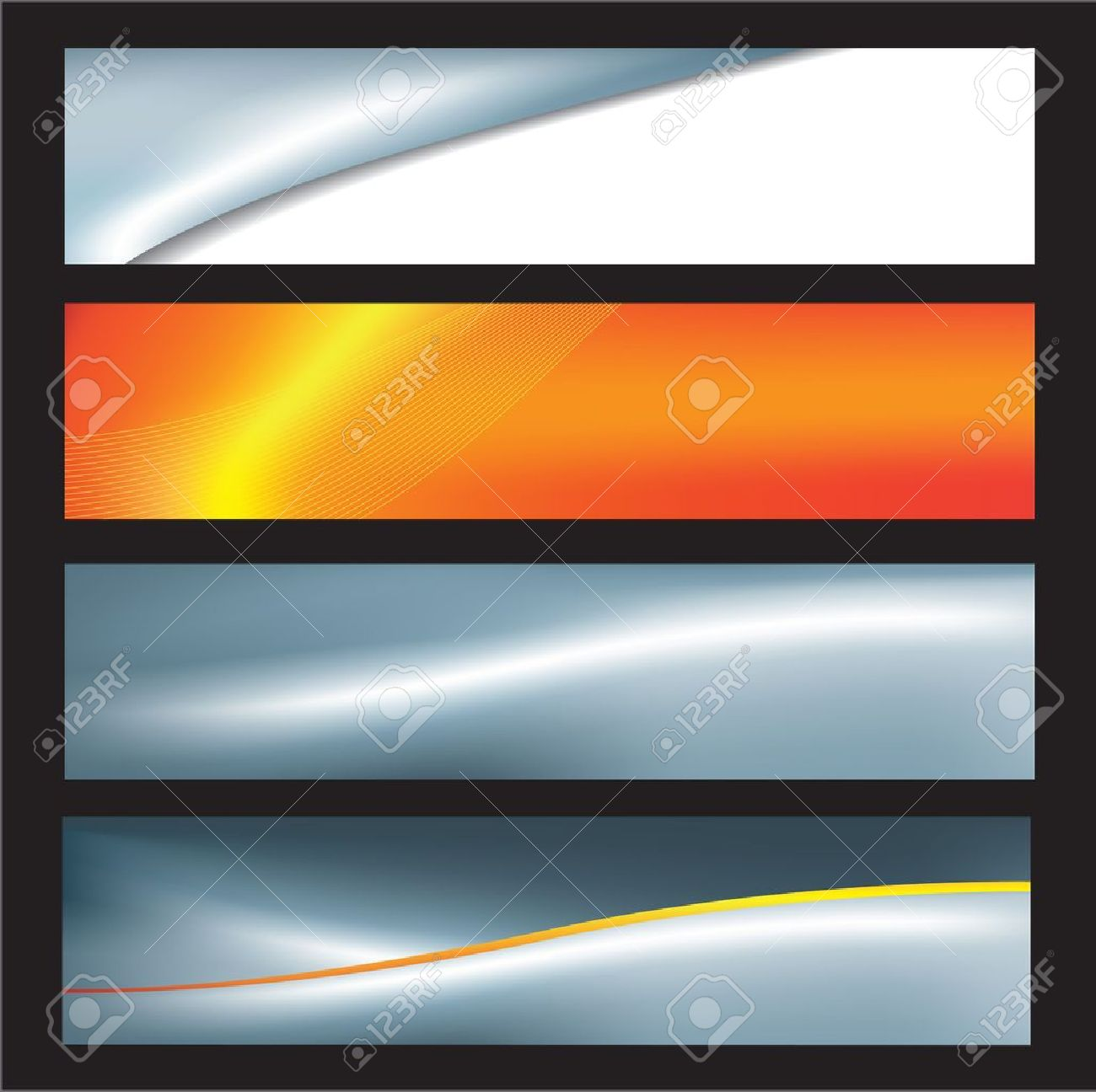 Free banner images for website - Website Banners With Space Left For Message Stock Vector 6833638