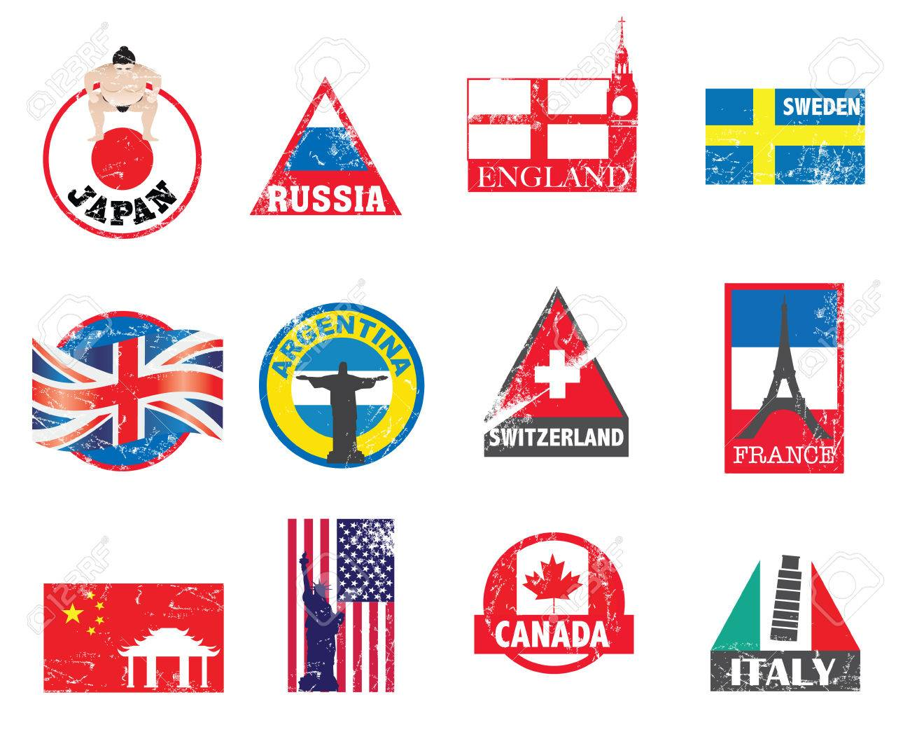 illustration with new designs to represent different countries Stock Vector - 8360102
