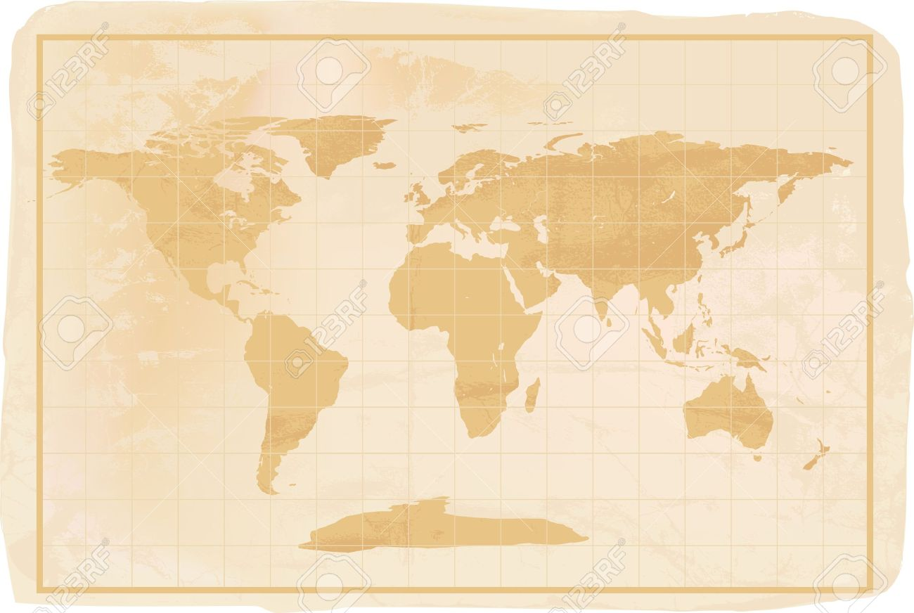 Illustration of a yellow old vintage world map with crreases illustration of a yellow old vintage world map with crreases and a little dirty stock vector gumiabroncs Images