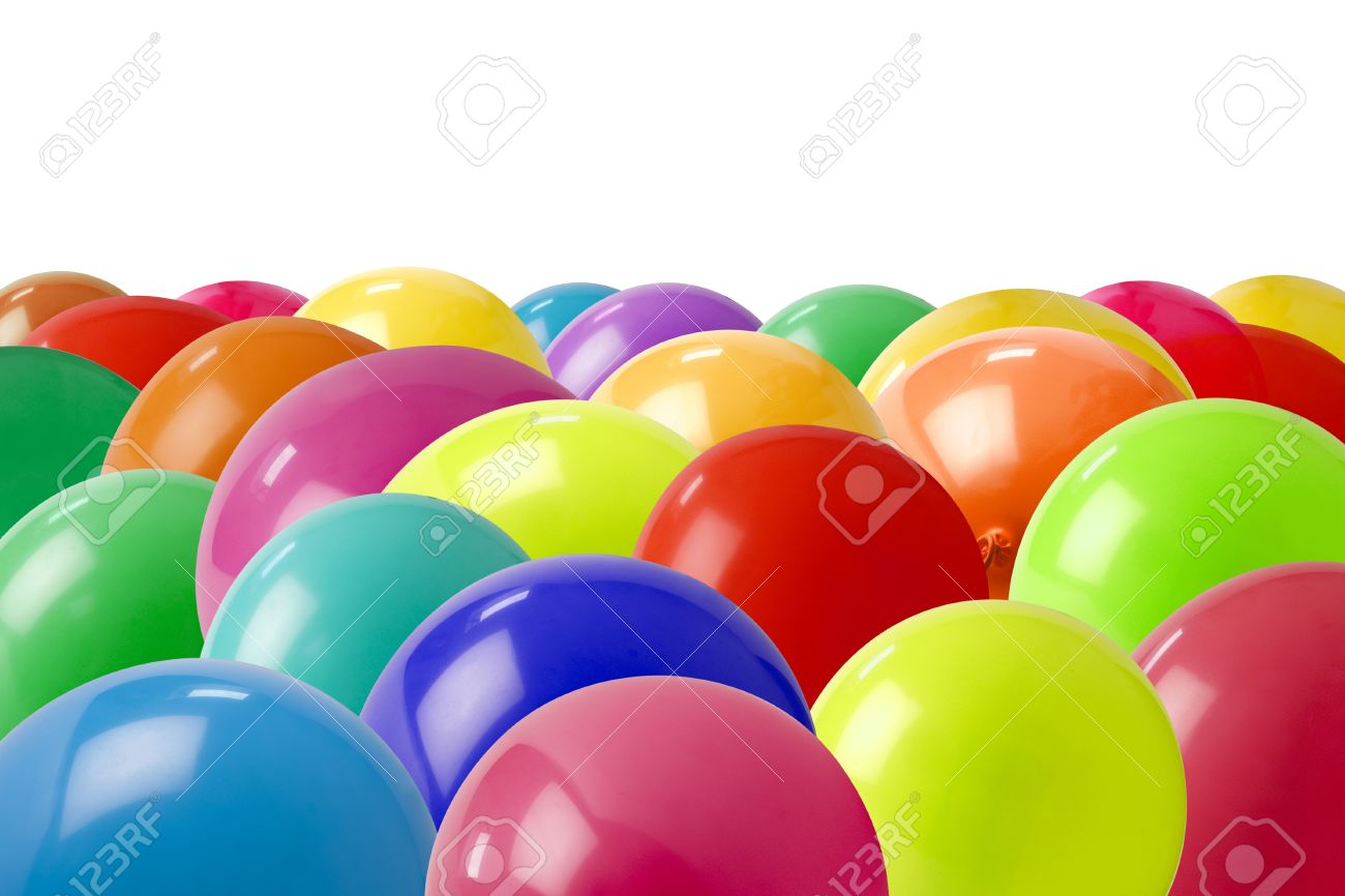 lots of different coloured balloons on the floor Stock Photo - 9092046