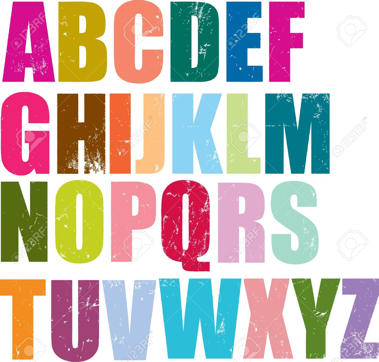 Individual Letterpress Letters Of The Whole English Alphabet ...