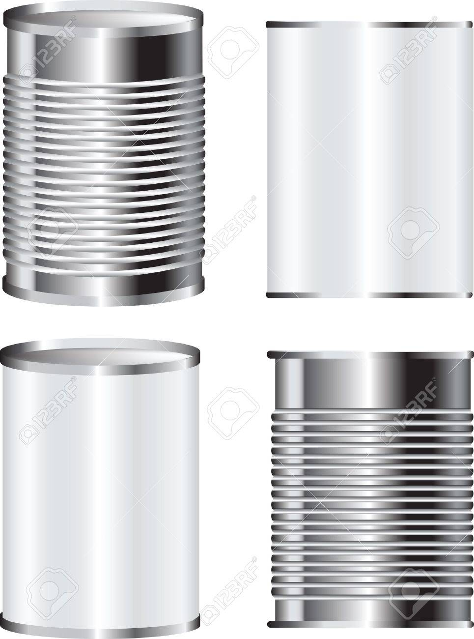 illustration of a tin food can for packaging with blank label - 9991705