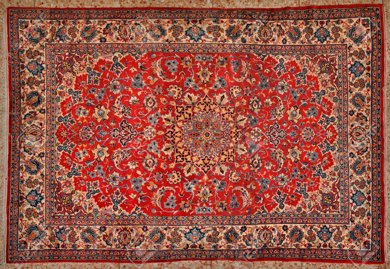 Oriental Rug: Carpet Texture Stock Photo