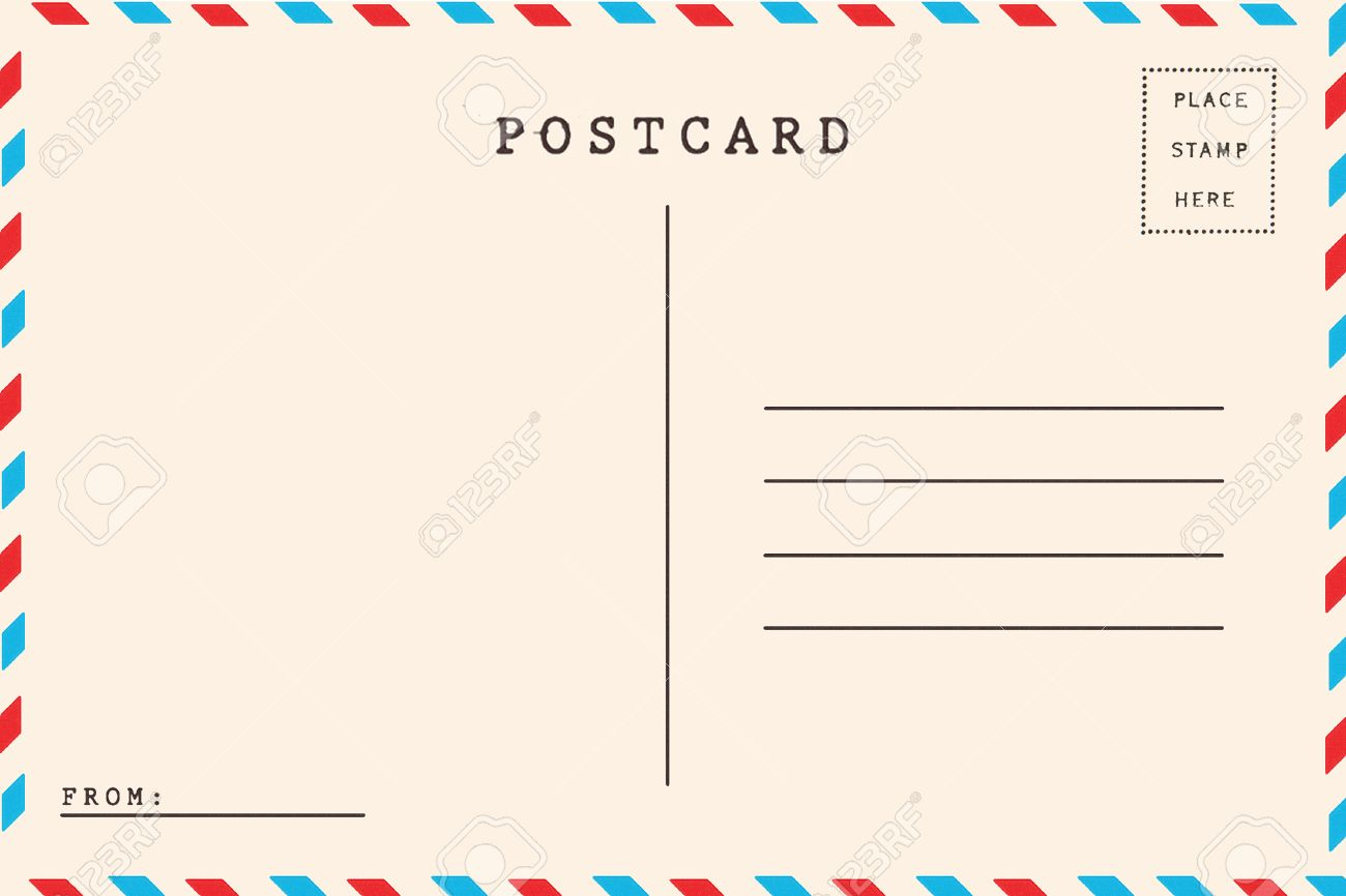 Airmail Backside Blank Postcard. Stock Photo, Picture And Royalty ...
