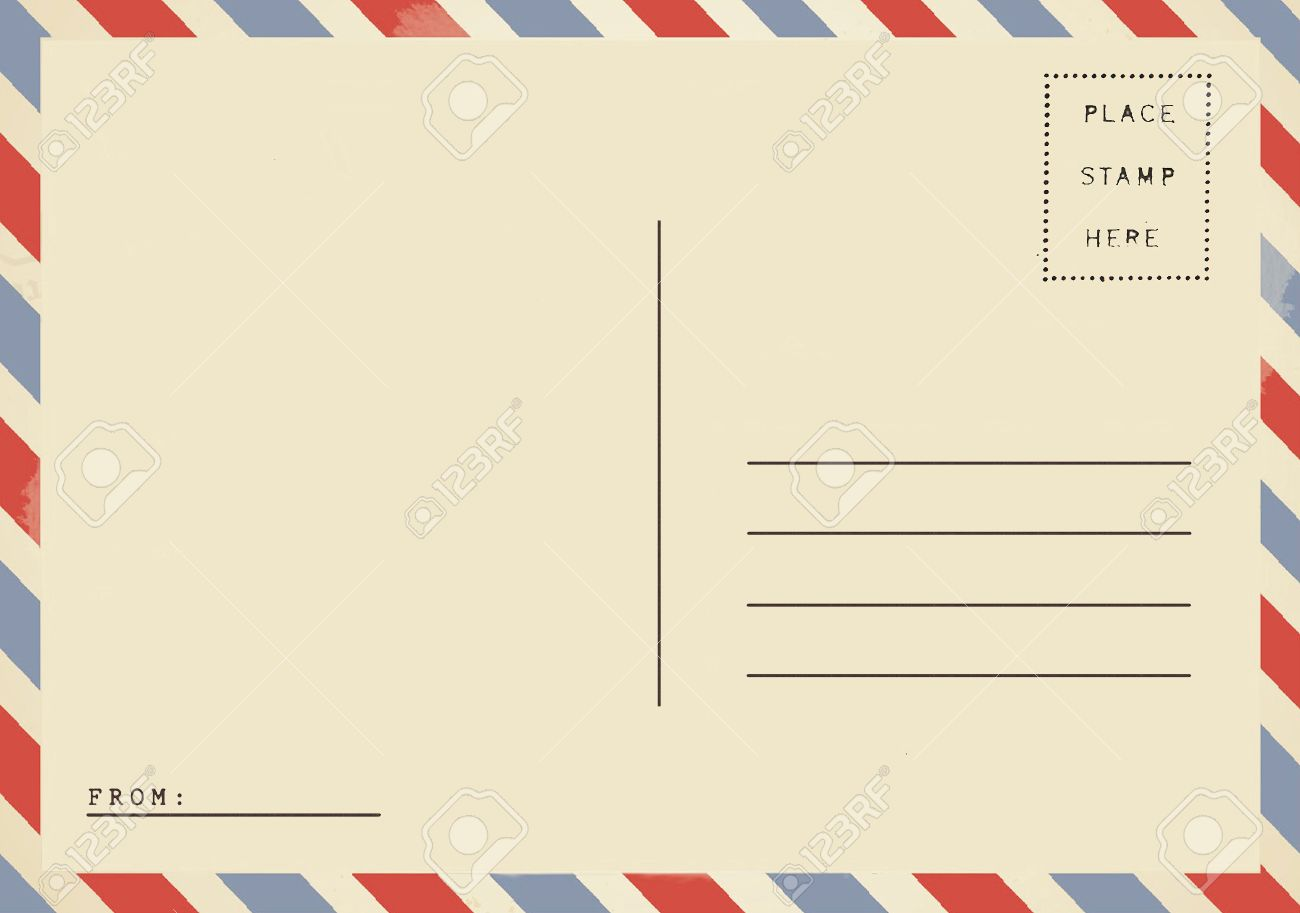 airmail backside blank postcard stock photo picture and royalty