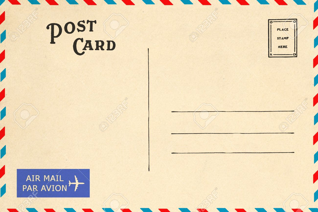 Ziemlich Kostenlose Leere Postkarte Vorlage Zeitgenössisch ...
