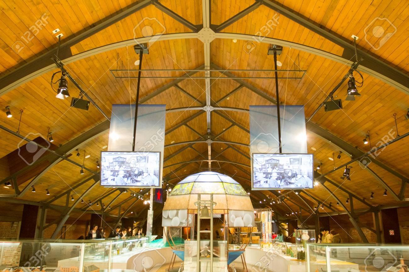 2017 年 2 月 17 日 - 札幌市: 札幌ビール博物館夜。建物は、1876 年に ...