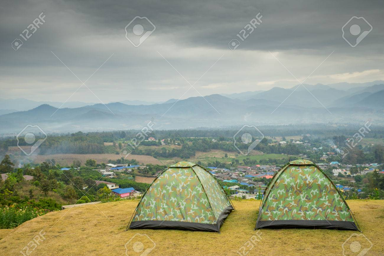 C&ing tent on the mountain at Pai Thailand Stock Photo - 83975260 & Camping Tent On The Mountain At Pai Thailand Stock Photo Picture ...