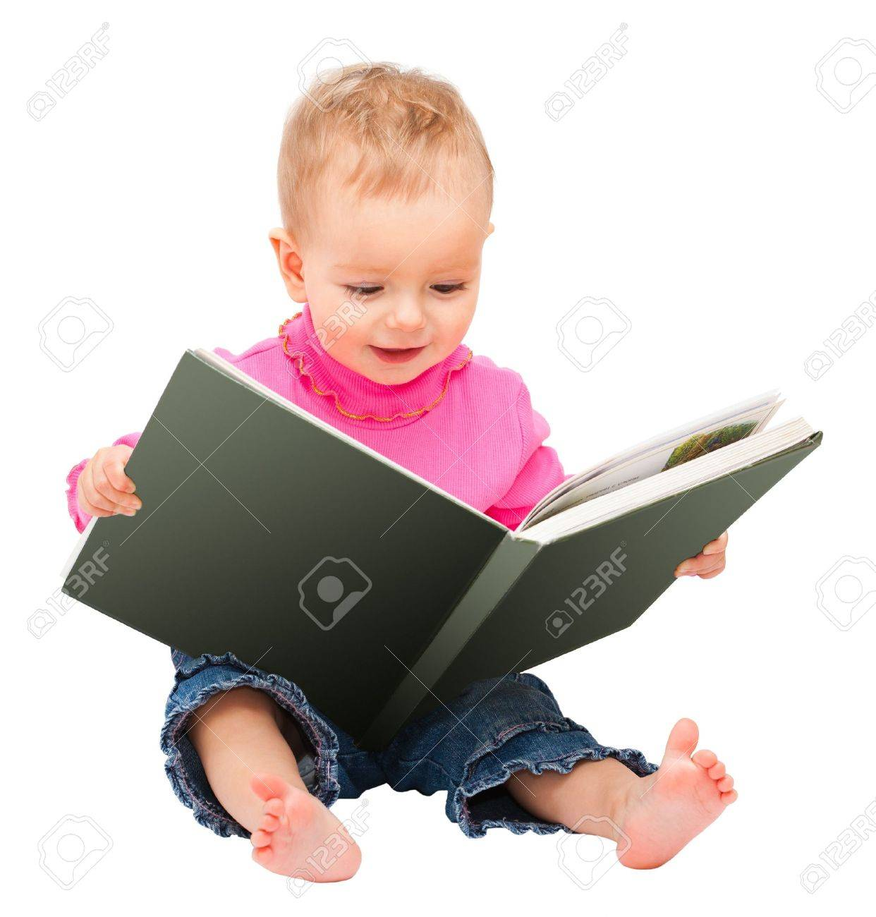 one-year old baby read...