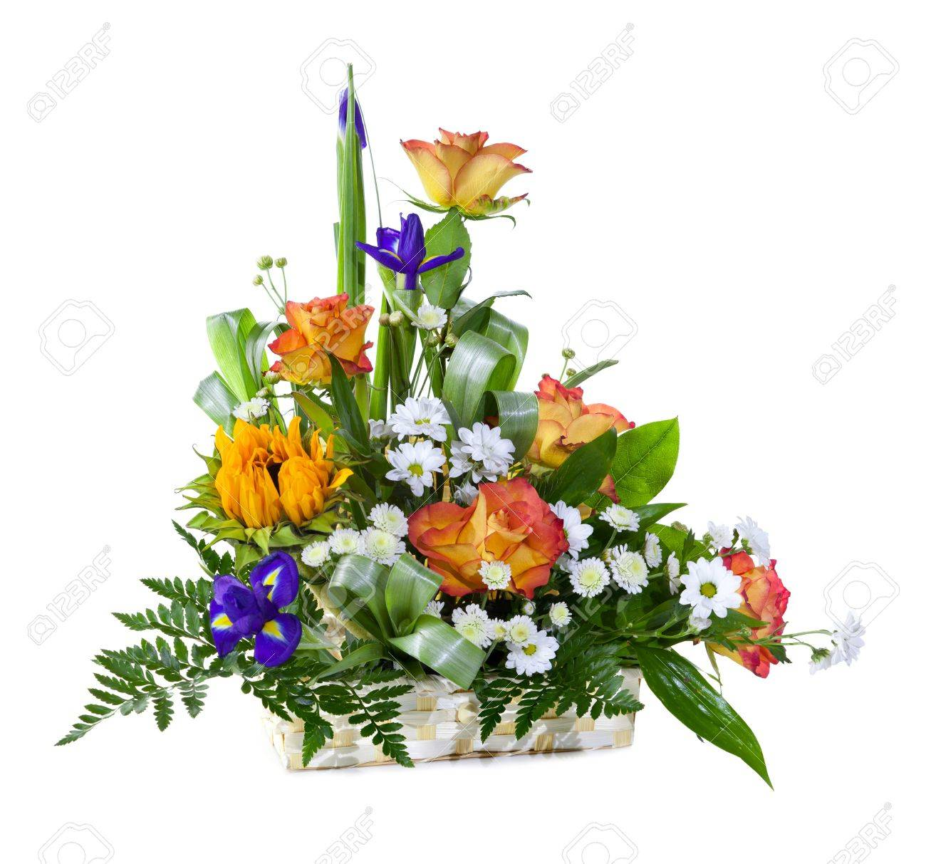 Big basket images stock pictures royalty free big basket photos big basket bright flower bouquet in basket isolated over white background dhlflorist Gallery