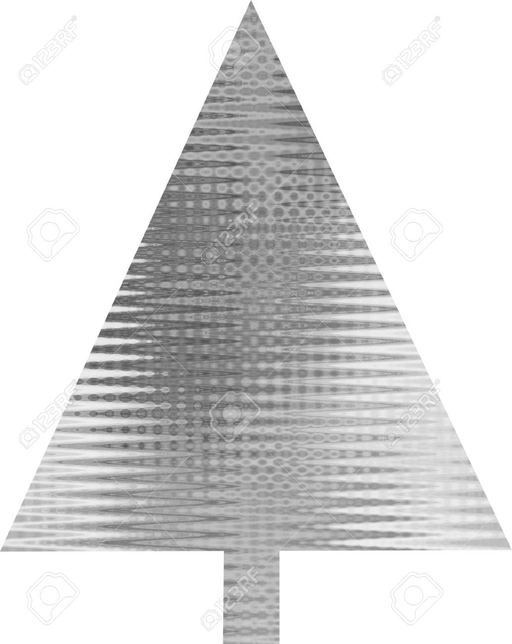 An abstract silver Christmas tree design Stock Photo - 5700091
