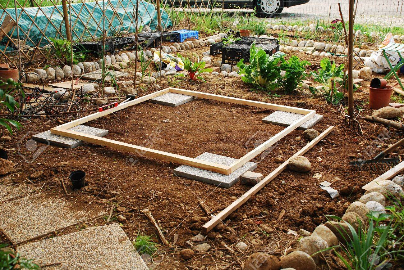 A Small Patch Of Land Which Has Been Levelled In Preparation.. Stock ...