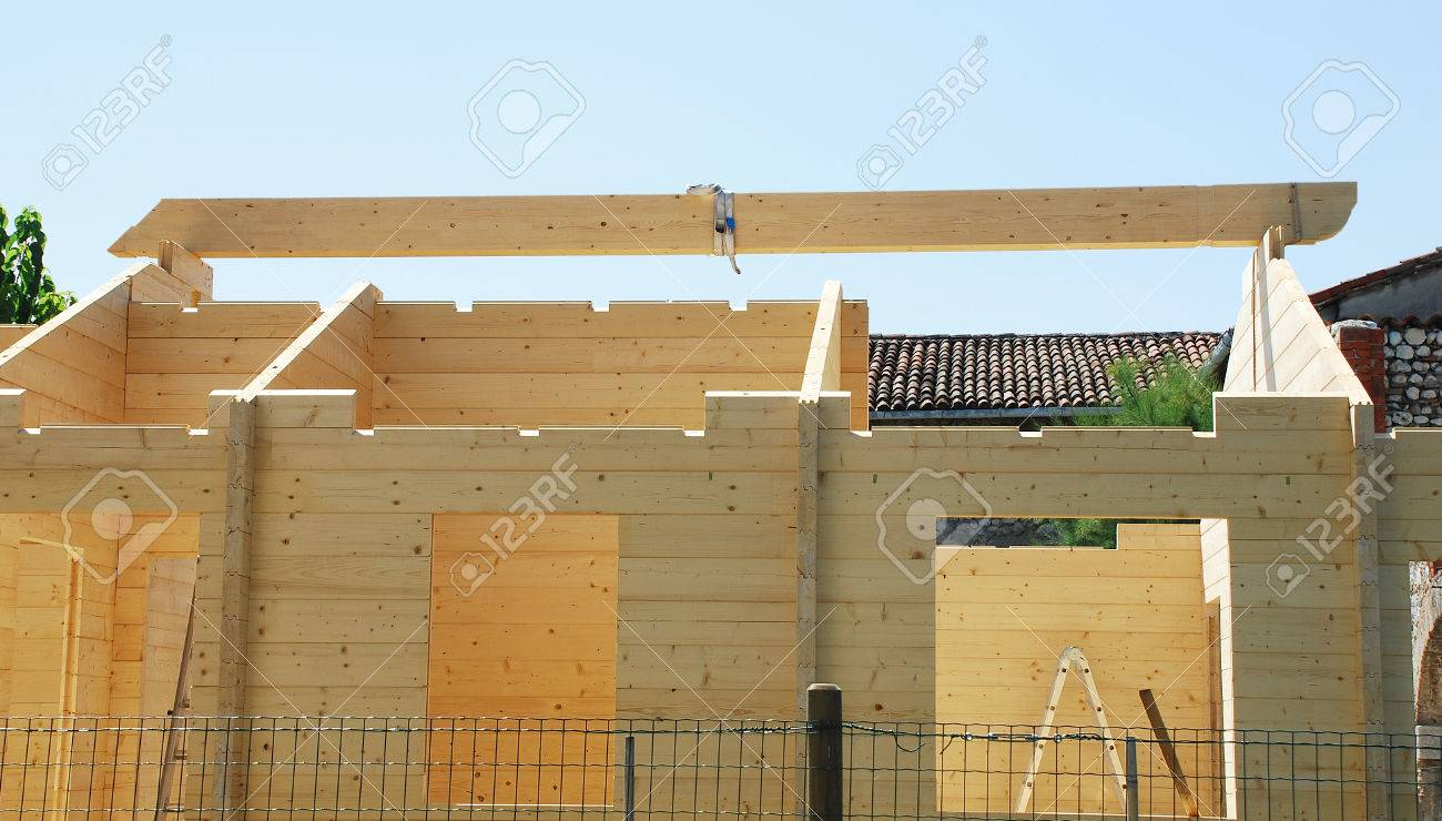 The Main Beam In A Temporary Position On A Partially Constructed ...