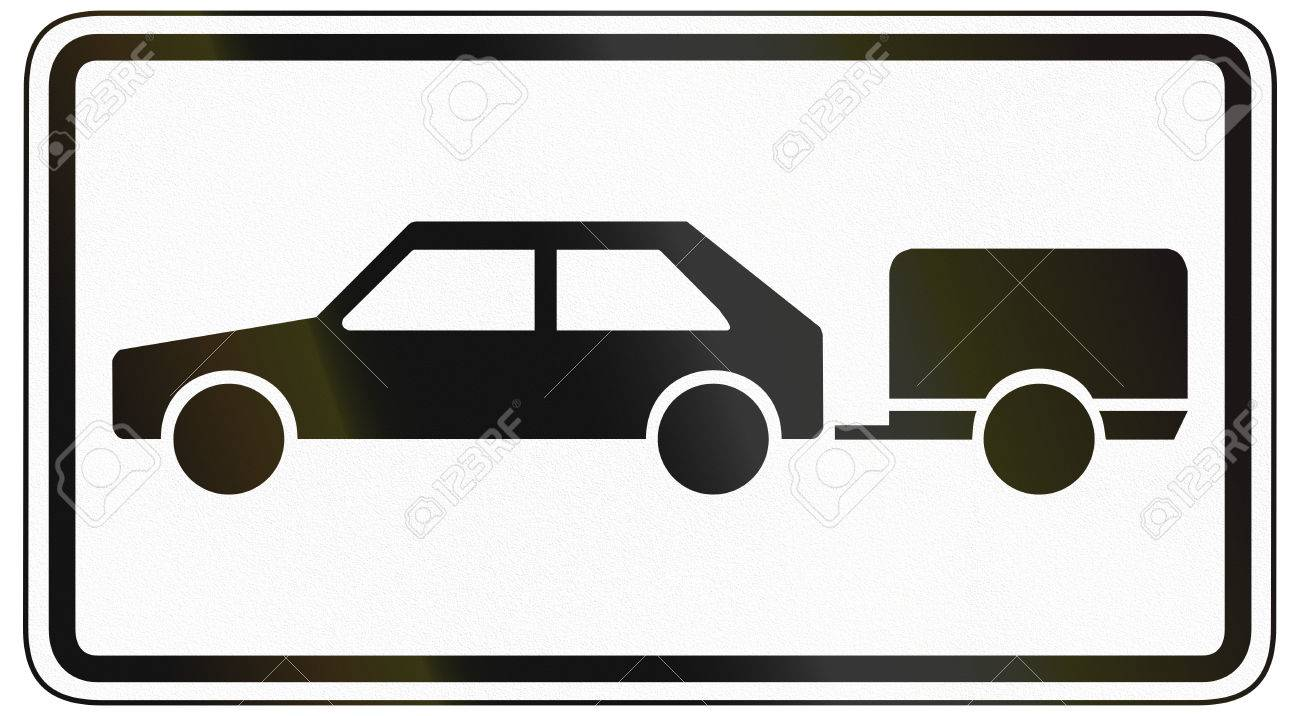 German Traffic Sign Additional Panel To Specify The Meaning Of - Car sign meanings