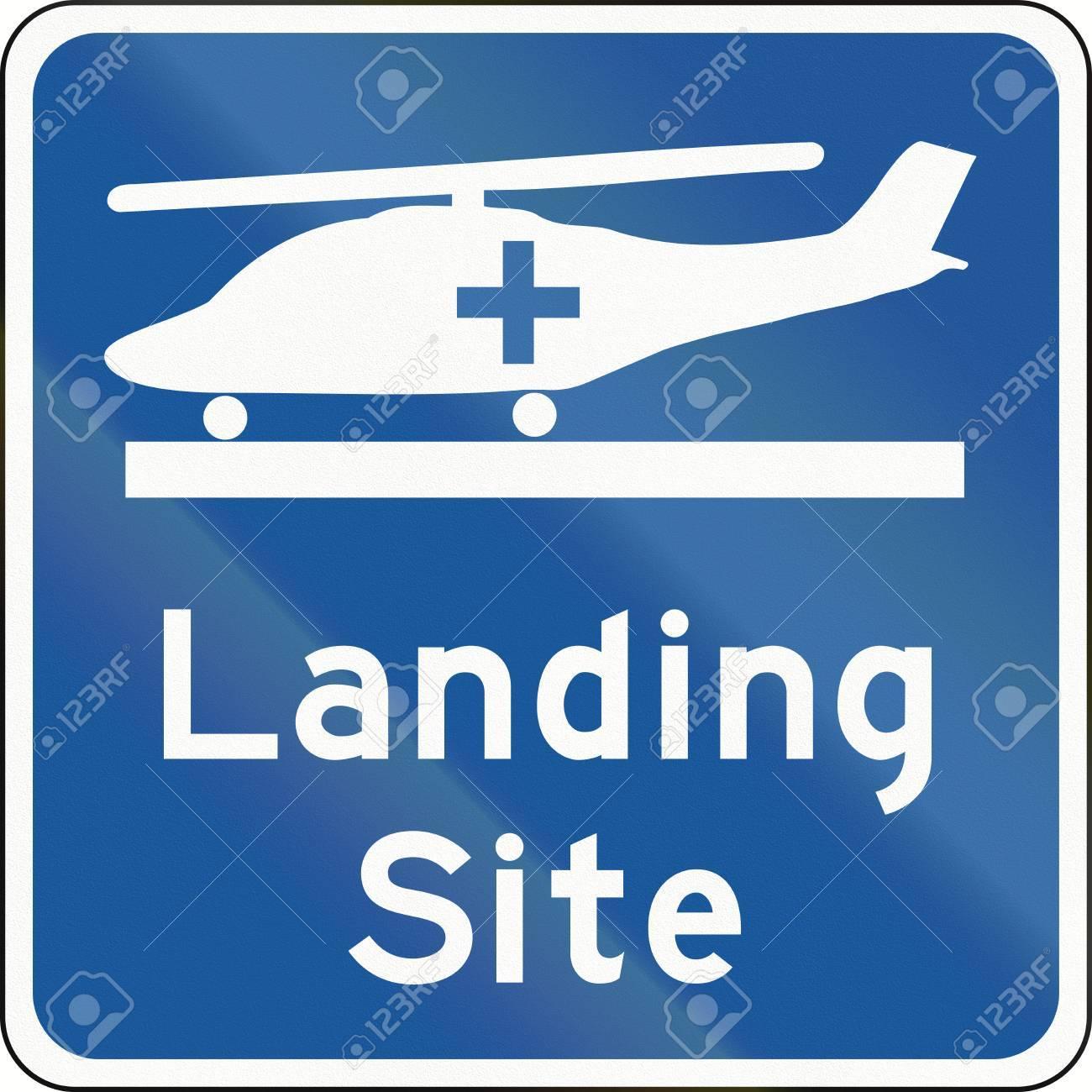 Elicottero Usato : Segnale stradale in canada elicottero di atterraggio del sito