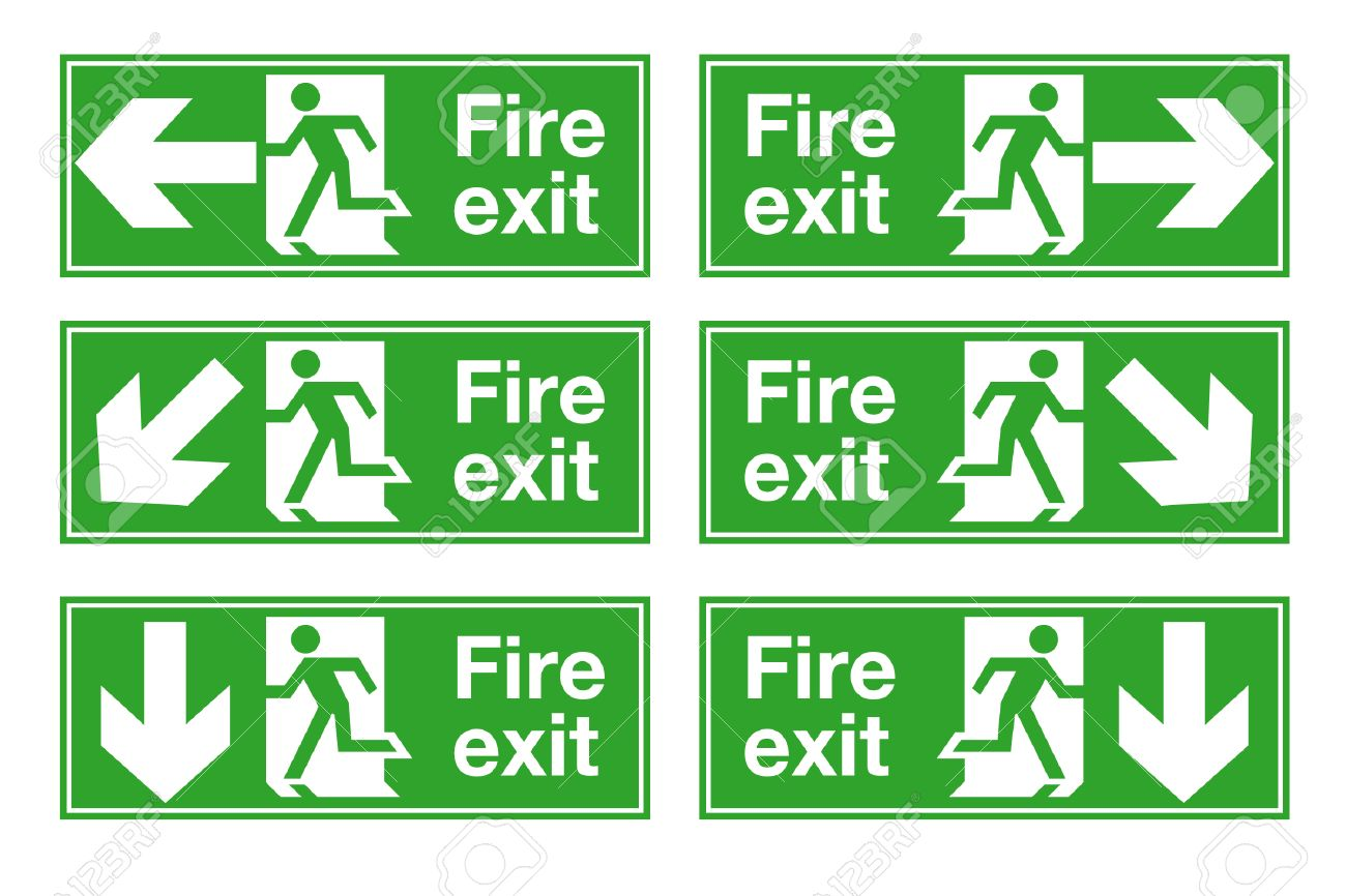 fire exit Stock Vector - 7340006