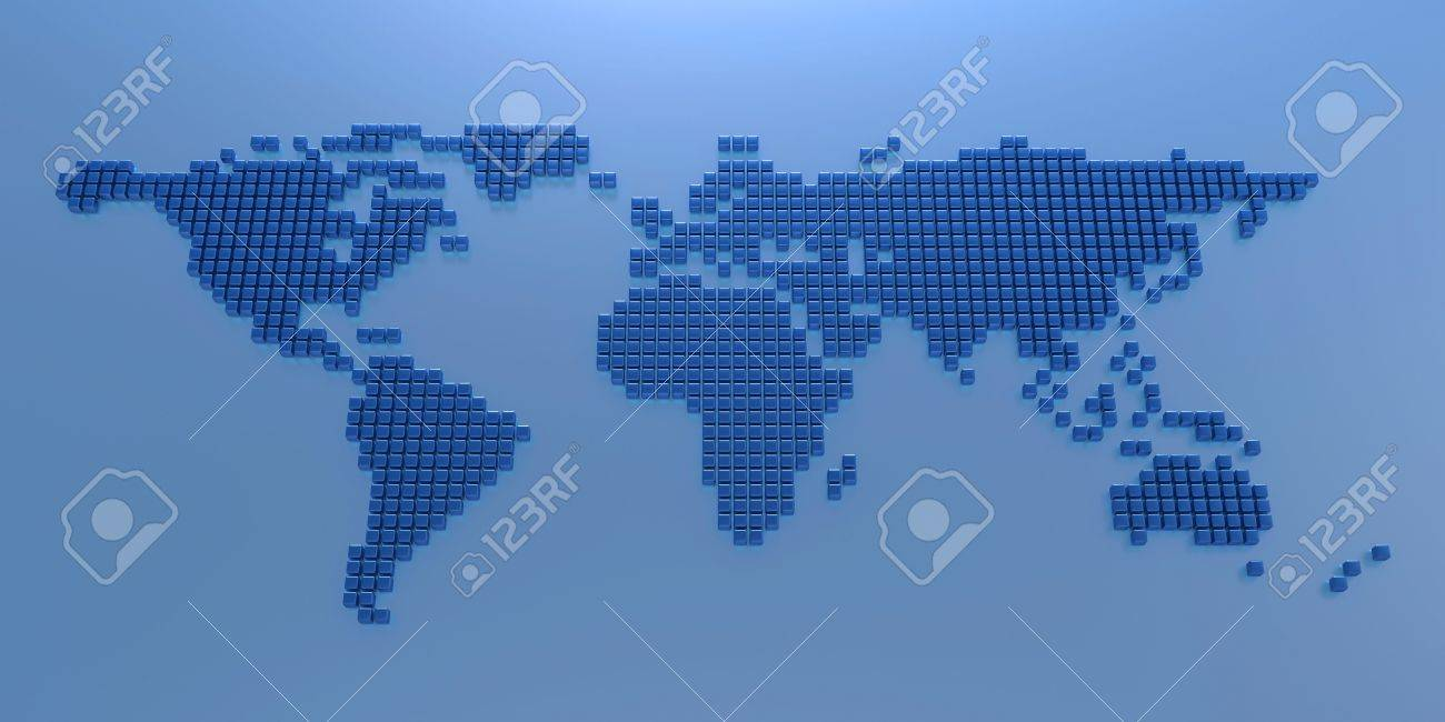 Stylized world map stock photo picture and royalty free image stylized world map stock photo 14522451 sciox Image collections