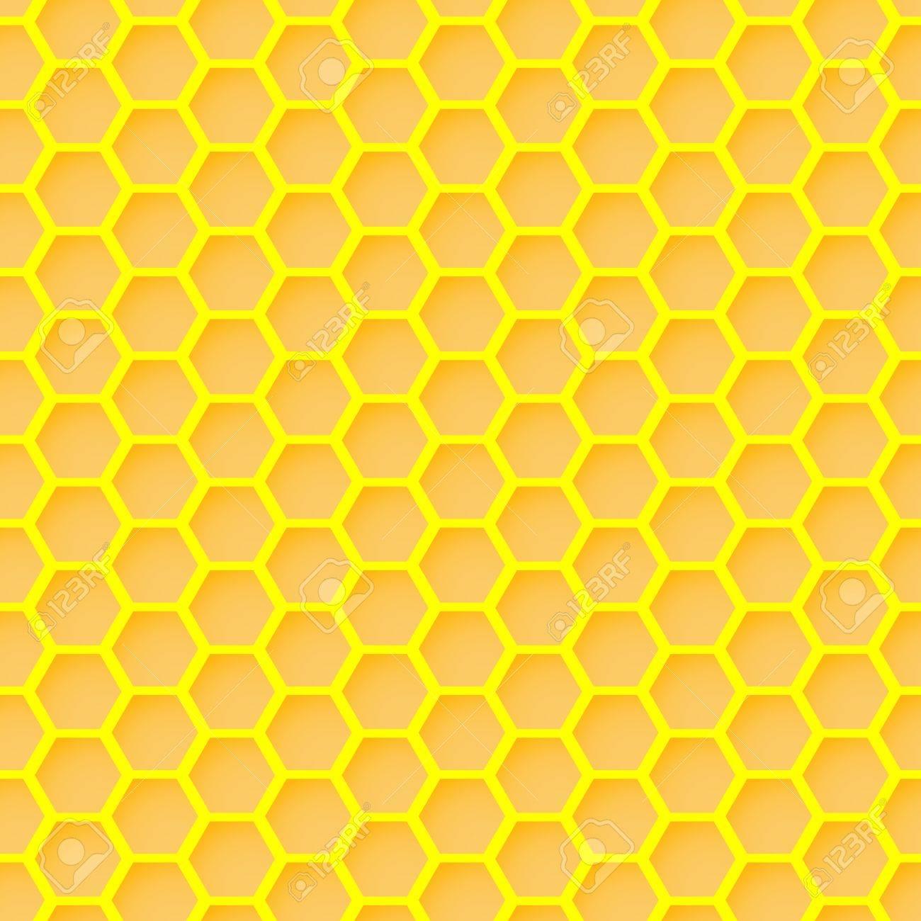 Honeycomb Seamless Wallpaper Stock Vector