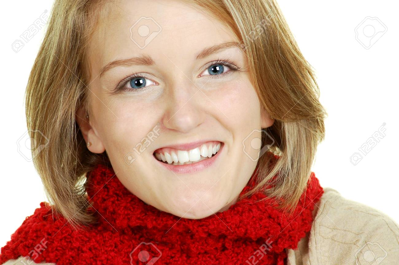 beautiful portrait of a blond woman smiling Stock Photo - 4023085