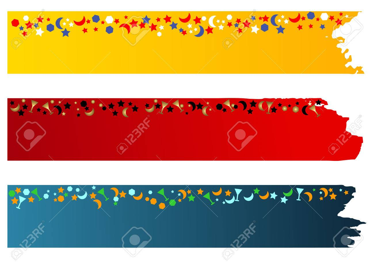 Festive holidays & New Year banners Stock Vector - 4387380