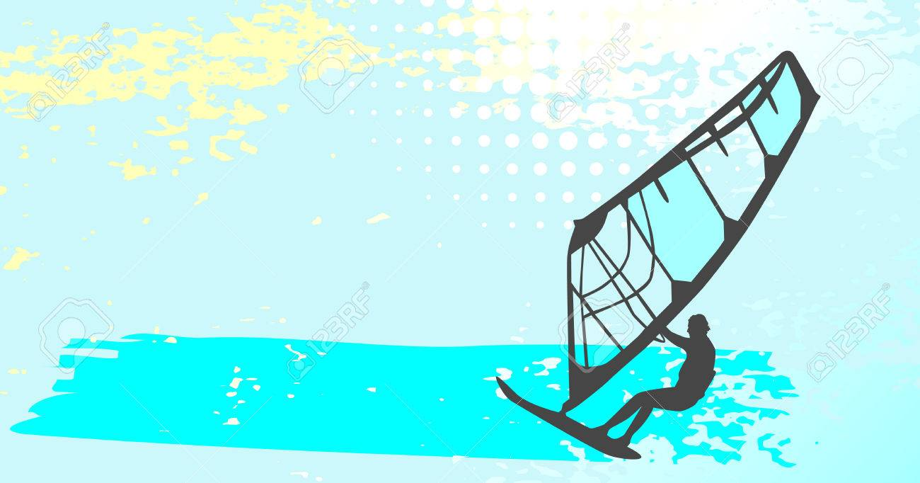 windsurfing - vector set Stock Vector - 5083685