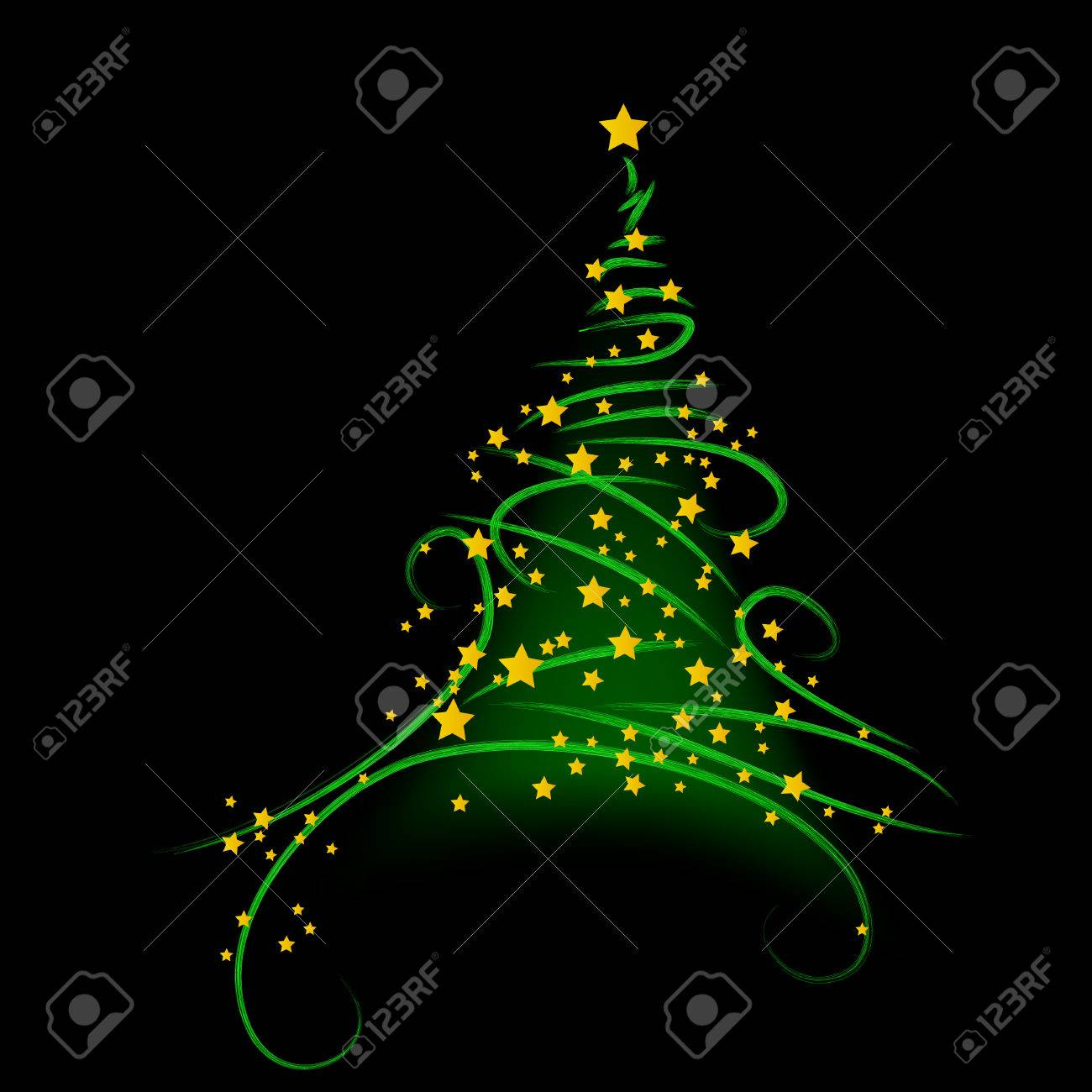 Christmas background, tree - vector illustration Stock Vector - 5657945