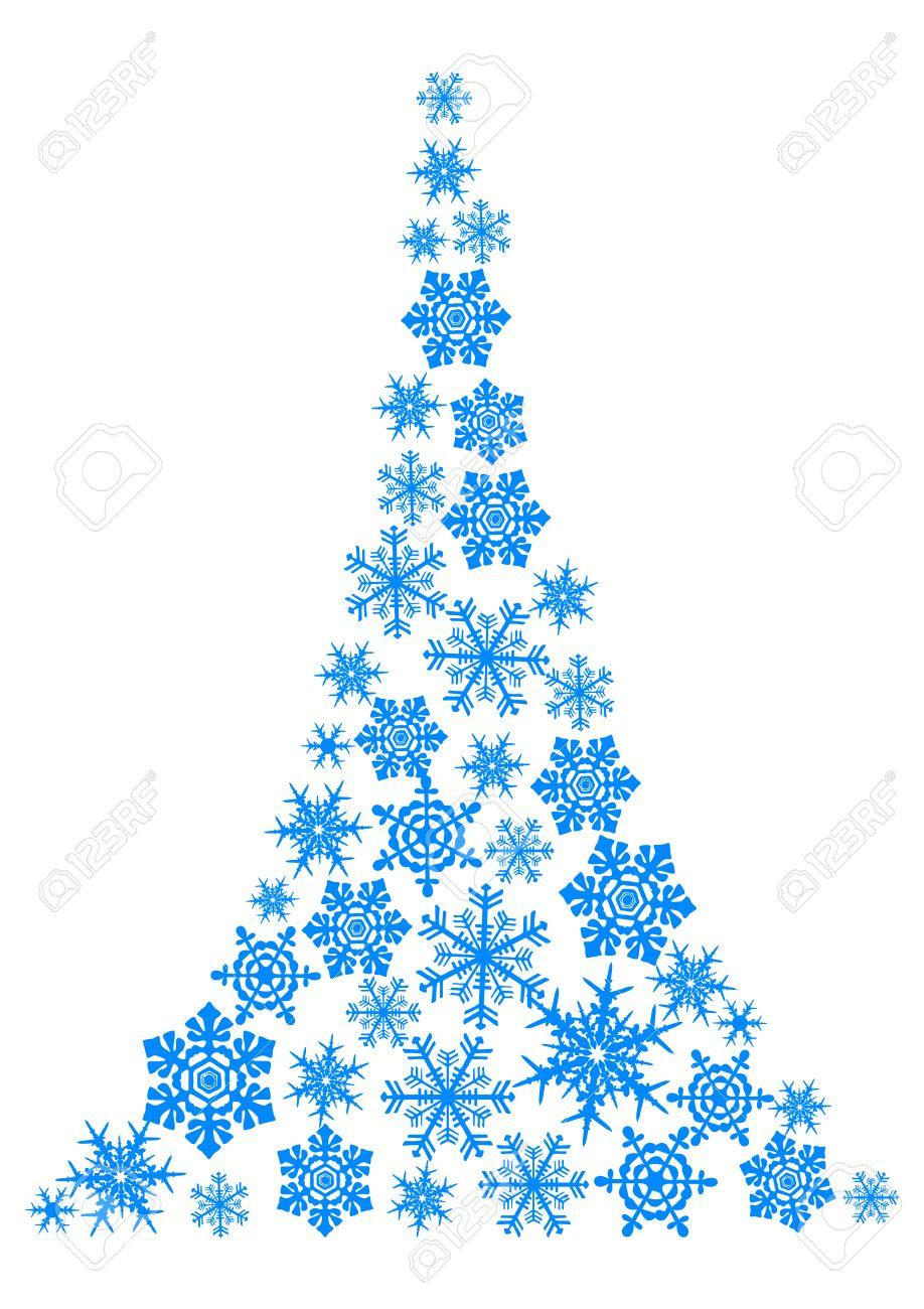 dibujo abstracto rbol de navidad simple foto de archivo