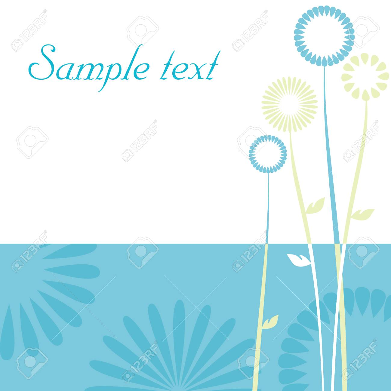 floral background, poppy with a space for your text Stock Vector - 6593768