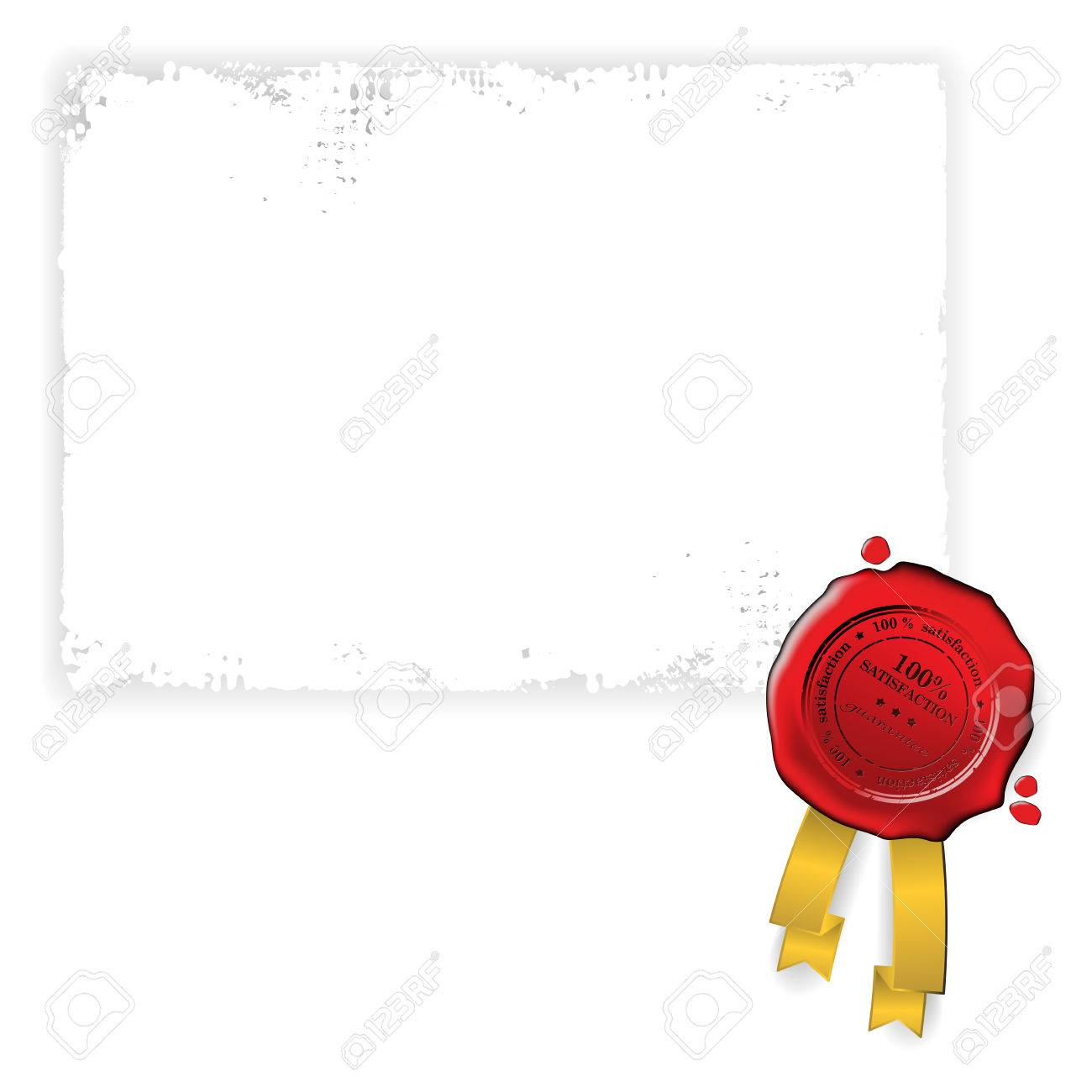Old paper with red wax seal Stock Vector - 6661120