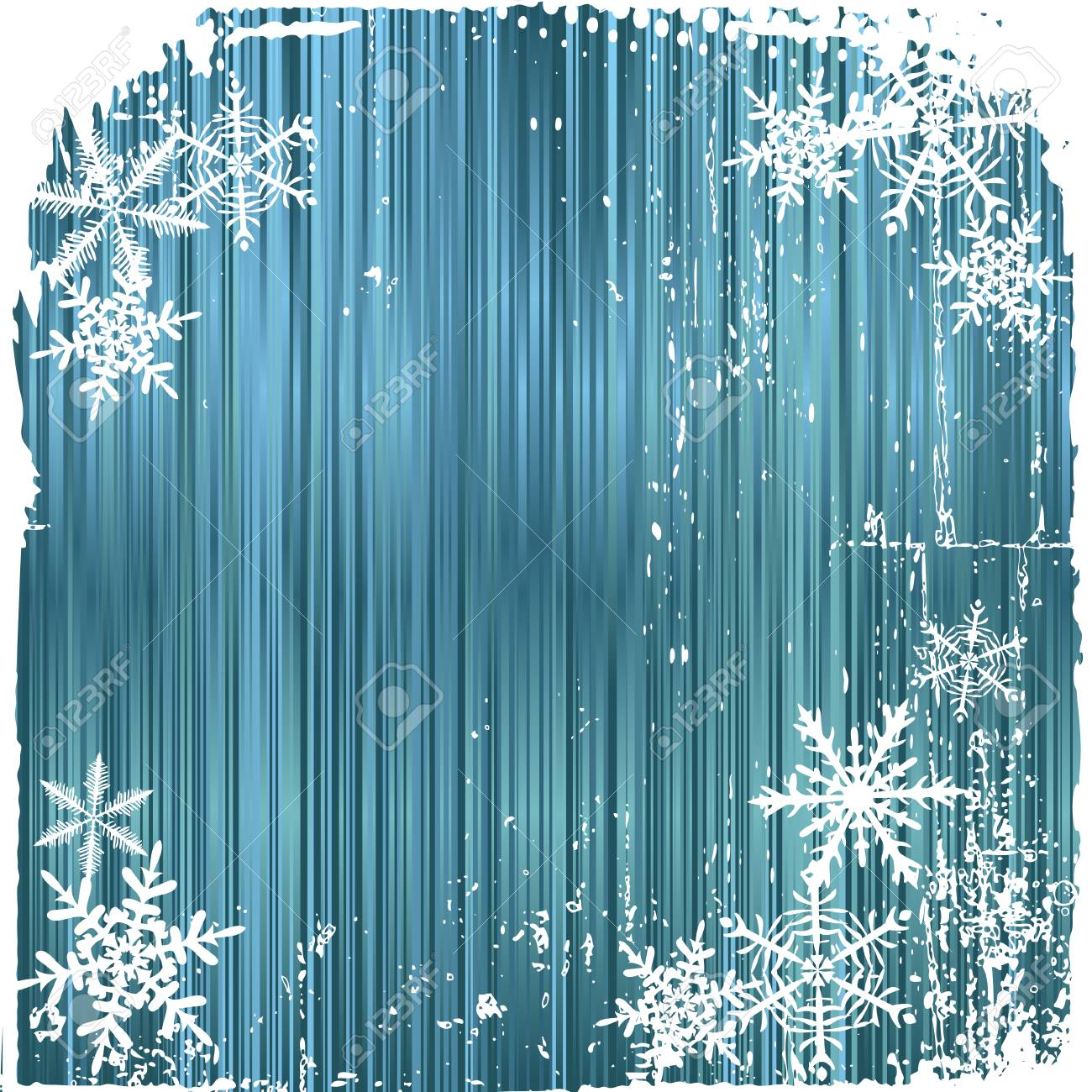 Winter background, snowflakes - illustration Stock Vector - 8332471