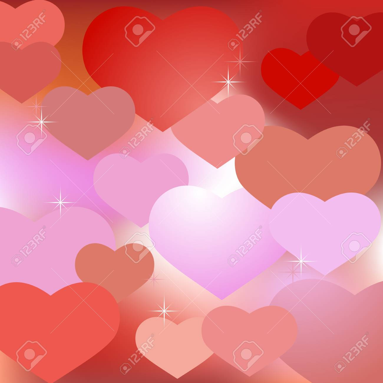 Abstract valentine background with hearts Stock Vector - 17084493