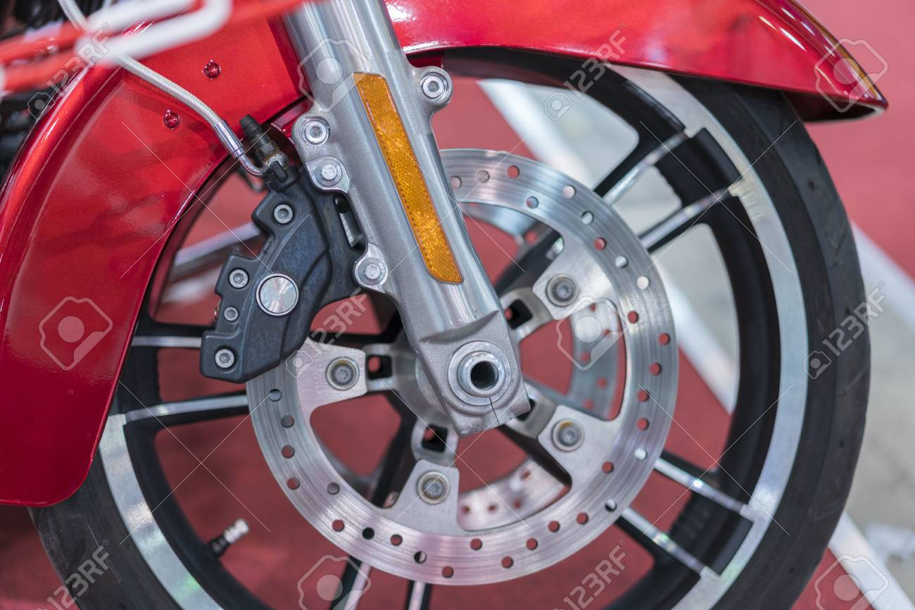 Brakes Close Up On A Motorcycle Motorbike Disk Brake Stock Photo Picture And Royalty Free Image Image 113312810