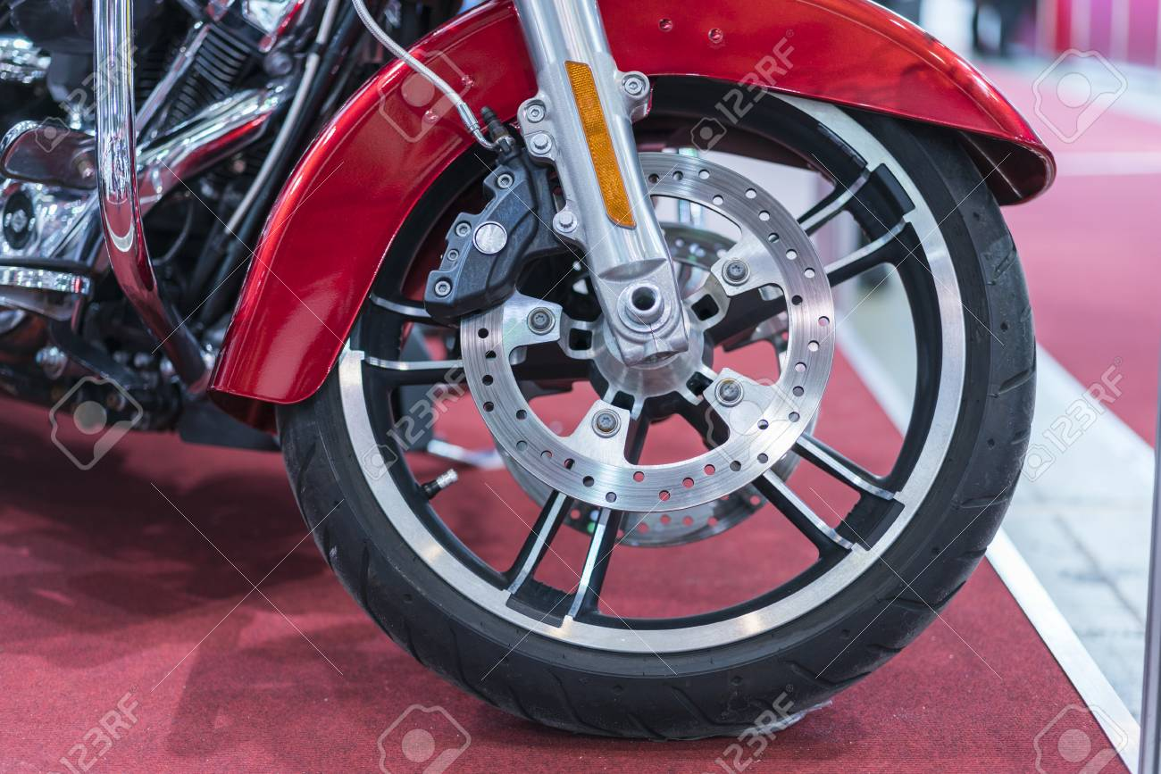 Brakes Close Up On A Motorcycle Motorbike Disk Brake Stock Photo Picture And Royalty Free Image Image 113322417