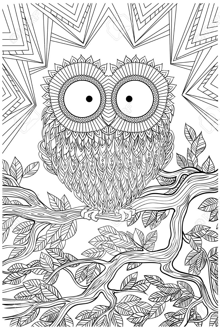 Unique Coloring Book Page For Adults - Joy To Older Children ...