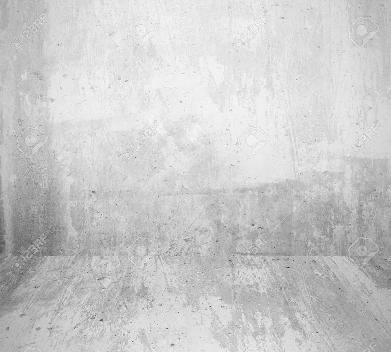 interior room with grunge white wall and floor - 157492267