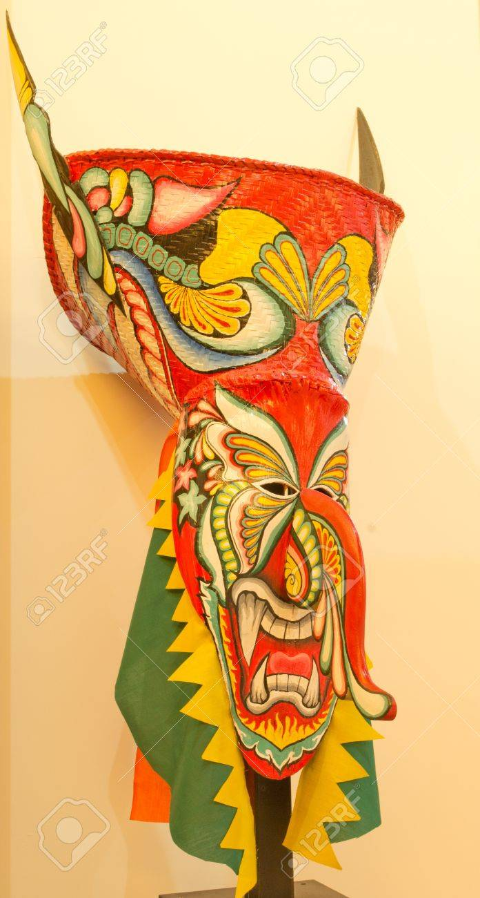 Ghost Mask Thailand , Phi Ta Khon Mask Stock Photo, Picture And ...
