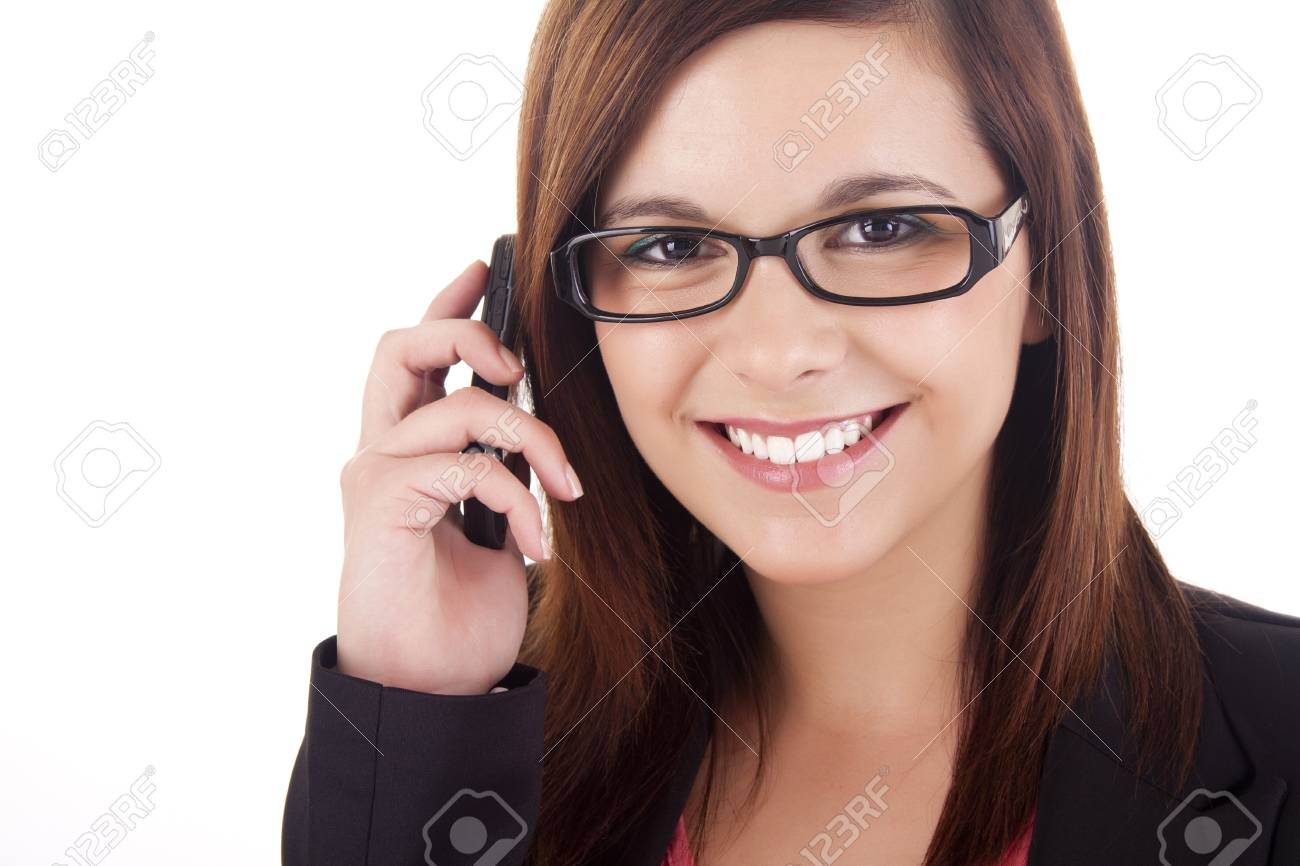 Young woman talking on mobile phone Stock Photo - 17300261