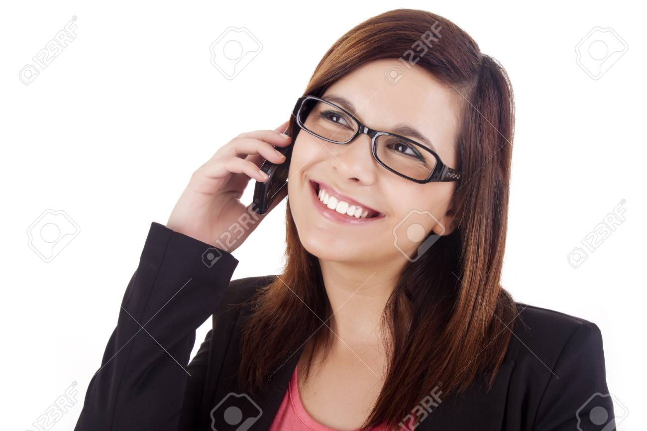 Young woman talking on mobile phone Stock Photo - 17300211