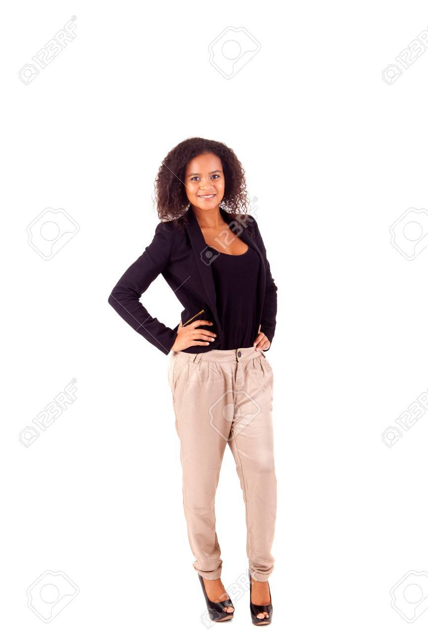 Beautiful african woman posing Stock Photo - 17347531