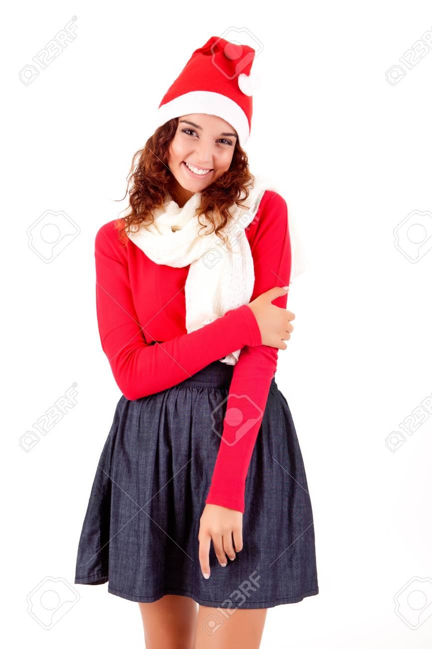 Beautiful woman posing for Christmas Stock Photo - 23565702