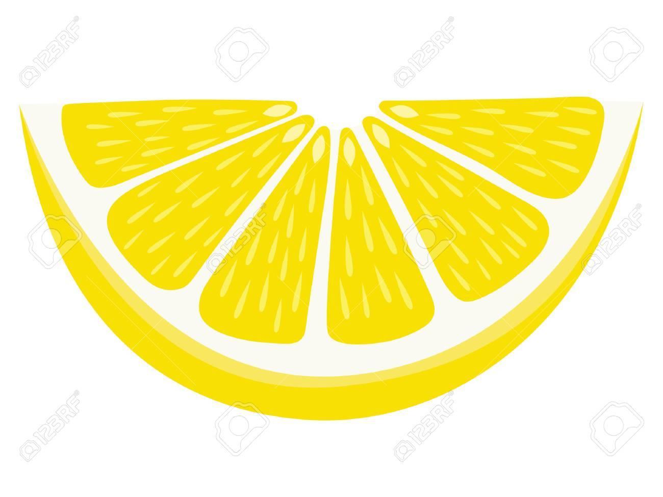 Lemon Wedge - Isolated - 84271435