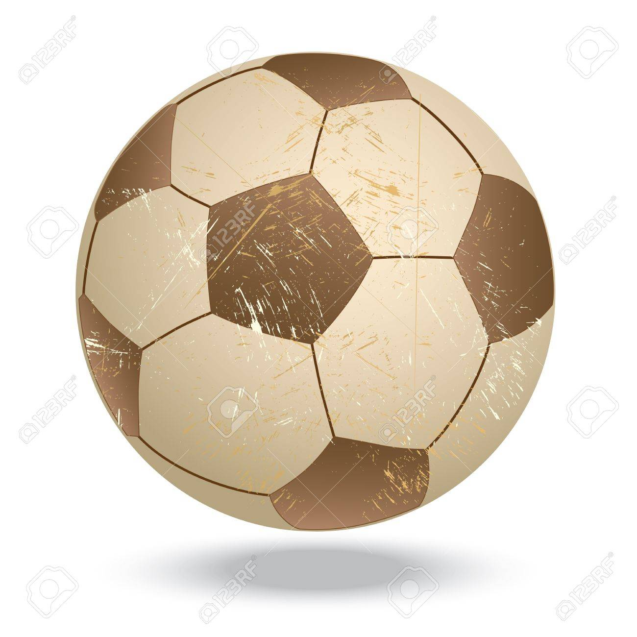 illustration of highly rendered vintage soccer ball, football, isolated in white background Stock Vector - 13626262